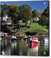 maine 18 Rock Port harbor View Acrylic Print