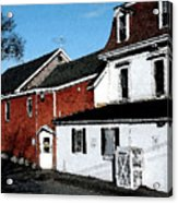 Maine Blue Hill Alleyway Acrylic Print