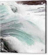 Maine Coast Storm Waves 3 Of 3 Acrylic Print