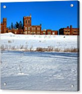 Maine Criminal Justice Academy In Winter Acrylic Print