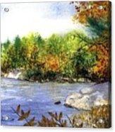 Maine Fall Pond Acrylic Print