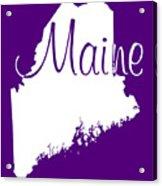 Maine In White Acrylic Print