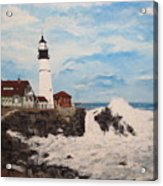 Maine Lighthouse Acrylic Print by Marcia Crispino