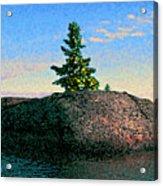 Maine Stone Island Sunrise Acrylic Print