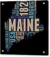 Maine Word Cloud 1 Acrylic Print