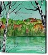 Maine's Autumn Finery Acrylic Print