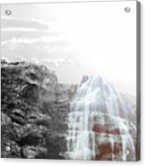 Majestic Falls Selective Color Acrylic Print