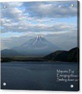 Majestic Fuji - Haiku Acrylic Print