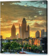 Majestic Gold Midtown Atlantic-station Atlanta Sunrise Art Acrylic Print