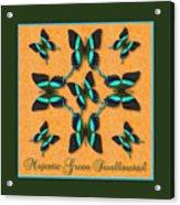 Majestic Green Swallowtail Wheel Acrylic Print