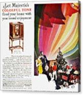 Majestic Radio Ad, 1929 Acrylic Print