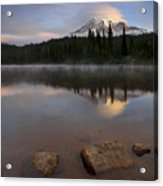 Majestic  Rainier Dawn Acrylic Print