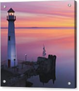 Majestic Wawatam Lighthouse In Stunning Predawn Light Acrylic Print