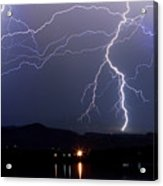 Major Foothills Lightning Strikes Acrylic Print