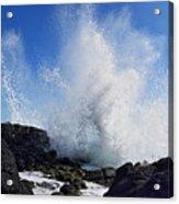Makapu'u Lava Rock Splash Acrylic Print