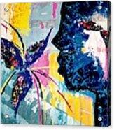 Make A Wish Abstract Art Figure Painting  Acrylic Print