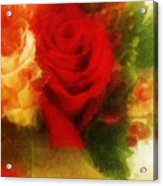 Make Mine Roses Please Too Acrylic Print