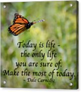 Make The Most Of Today Acrylic Print