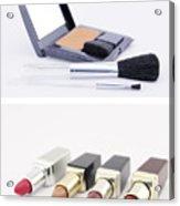 Make Up Set And Lipsticks Acrylic Print