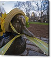 Make Way For Ducklings B.a.a. 5k Spring Bonnet Acrylic Print
