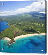 Makena Beach Aerial Acrylic Print