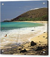 Makena Beach Panorama Acrylic Print