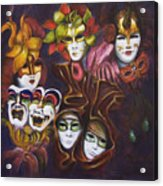 Making Faces I Acrylic Print