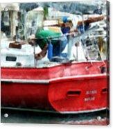 Making The Boat Shipshape Acrylic Print
