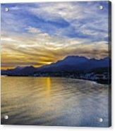 Makrygialos Sunset Acrylic Print