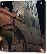 Mala Strana Bridge Tower Acrylic Print