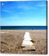 Malaga Beach Acrylic Print