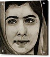 Malala Yousafzai- Teen Hero Acrylic Print