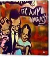 Malcolm X Fatherhood 2 Acrylic Print by Tony B Conscious