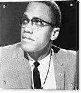 Malcolm X, Militant Black Muslim Civil Acrylic Print by Everett