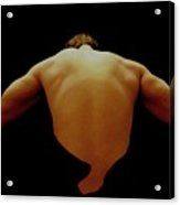 Male Back Study - 8x12 Acrylic Print