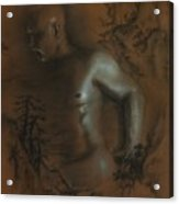 Male Nude 17. East Meets West 1. Acrylic Print