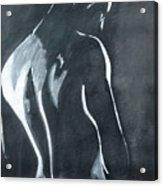 Male Nude Black And Grey Acrylic Print