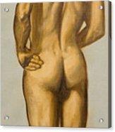 Male Nude Self Portrait By Victor Herman Acrylic Print