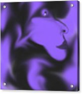 Male Space Face Acrylic Print