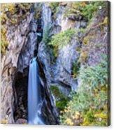 Maligne Canyon Waterfall Acrylic Print