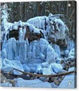 Maligne Canyon Winter Wonders Acrylic Print