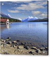 Maligne Lake -- Jasper Alberta Canada Acrylic Print by Daniel Hagerman