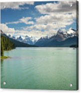 Maligne Lake In Jasper National Park Acrylic Print