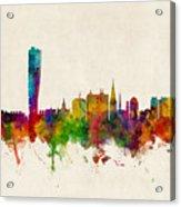 Malmo Sweden Skyline Acrylic Print