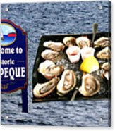 Malpeque Oyster Poster Acrylic Print