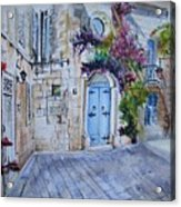 Malta Courtyard Acrylic Print