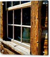 Maltese Cross Cabin Window Acrylic Print