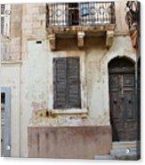 Maltese House On A Steep Street Acrylic Print