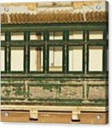 Maltese Wooden Enclosed Balcony And Windows Acrylic Print