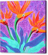 Mama And Her Chicks By Ken Tesoriere Acrylic Print